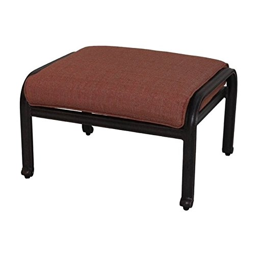 BOWERY HILL Patio Ottoman in Antique Bronze (Set of 2)