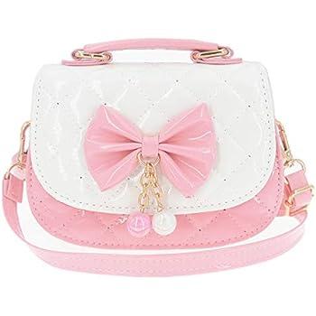 2e24acb96aab JUNOAI Little Girls Crossbody Purses for Kids - Toddler Mini Cute Princess  Handbags Shoulder Messenger Bag Gifts (Bowknot Pink&White)