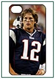 NFL Tom Brady New England Patriots Super Bowl iPhone 4s iPhone4s Black Designer Hard Case Cover Protector Bumper