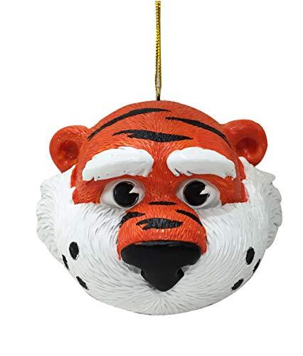 Tigers Auburn Ornaments - Auburn Tigers Aubie Mascot Head Ornament