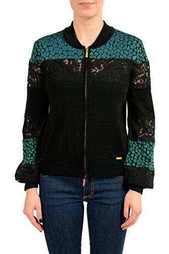 Just Cavalli Women's Multi-Color Full Zip Light Sweater US S IT (Just Cavalli Women Sweaters)