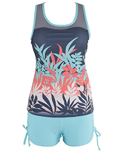 Tempt Me Printed Tankini Boyshort