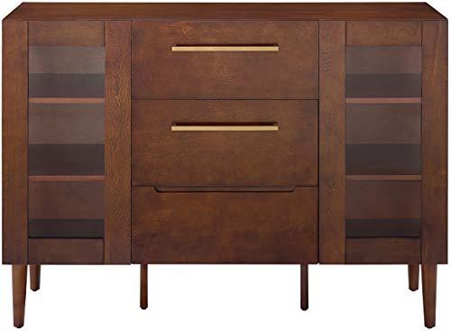 Crosley Furniture CF4207-MA Everett Mid-Century Modern Buffet, Mahogany ()