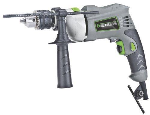Genesis GHD1260B Hammer Drill, 1/2-Inch, Grey