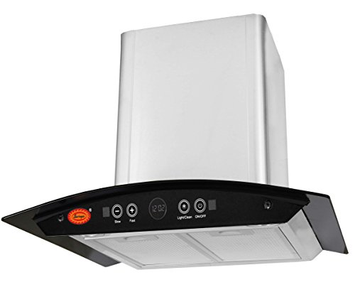 SURYA Auto Clean Kitchen Chimney (RangeHood) with Hand Wave Sensor, Auto Clean, Gas Sensor, Aluminum Filter & Touch Panel in Stainless Steel
