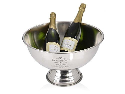 Champagner-Kühler 36cm Edelstahl Sekt-Schale Flaschen-Kühler Eisbehälter Party