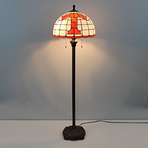 (16-inch NCAA Tennessee Volunteers Stained Glass Floor Lamp)