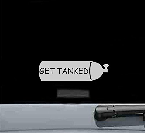 Get Tanked Vinyl Decal Sticker (SILVER)