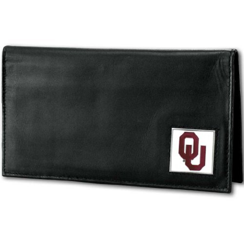 NCAA Oklahoma Sooners Deluxe Leather Checkbook Cover