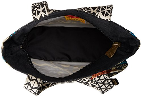 Laurel Burch 9 x 9 x 3 cm Peso Cat Bag Medium Tote con cerniera sulla parte superiore