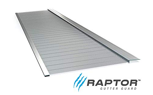 Raptor Gutter Guard | Stainless Steel Micro-Mesh, Contractor-Grade, DIY Gutter Cover. Fits Any Roof or Gutter Type - 48ft to a Box. Fits a Standard 5