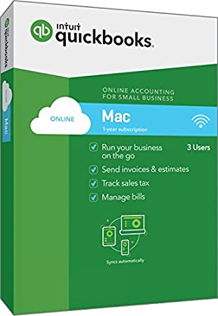 Intuit QuickBooks Online For Mac 2018 Small Business Accounting [Mac Disc]