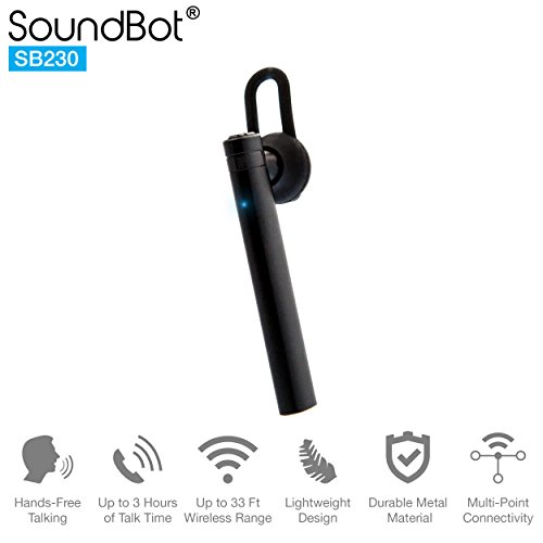 SoundBot SB230 Mono Headphone, Hands-free Talking, Up to 3 H