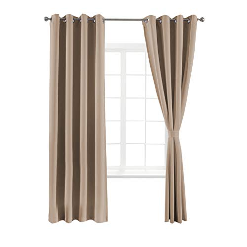 ino Curtains Blackout Thermal Insulated Antique Copper Grommet Panels,52x84 Inch, Set of 2 ()