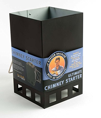 Steven Raichlen Best of Barbecue Ultimate Chimney Charcoal Starter with Handle (Pyramid Chimney)