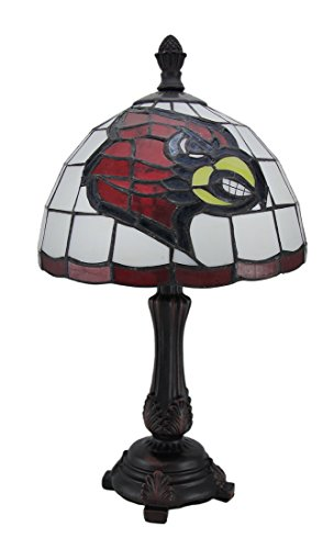 16 Stained University Glass (Resin And Glass Accent Lamps Ncaa Louisville Cardinals Stained Glass Accent Lamp 9 X 16 X 9 Inches Multicolored)