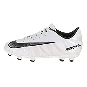Nike Kids MercurialX Vortex III CR7 FG Blue Tint/Black/White Soccer Cleat 10 Kids US