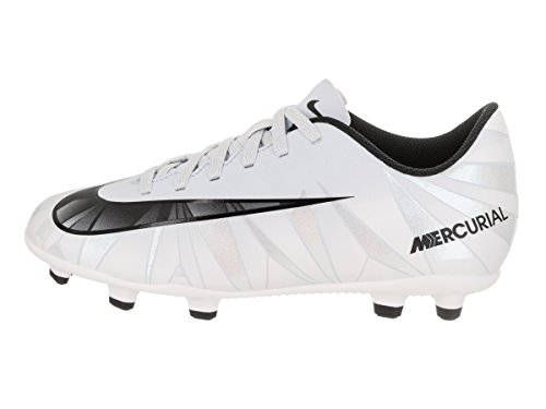 NIKE Kids MercurialX Vortex III CR7 FG Blue Tint/Black/White Soccer Cleat 11.5 Kids US