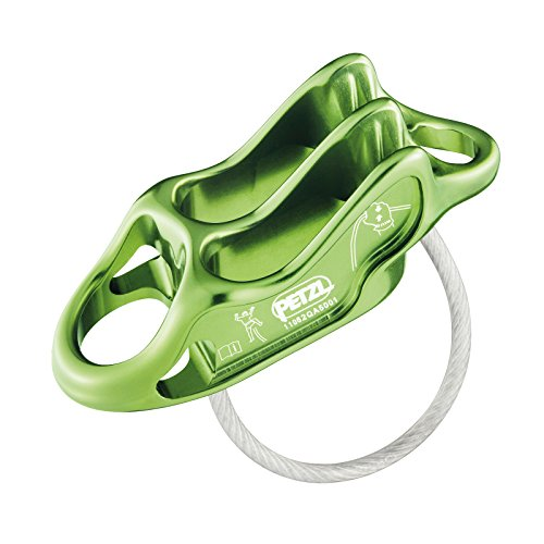 (PETZL Reverso 4 Belay Device Apple Green)