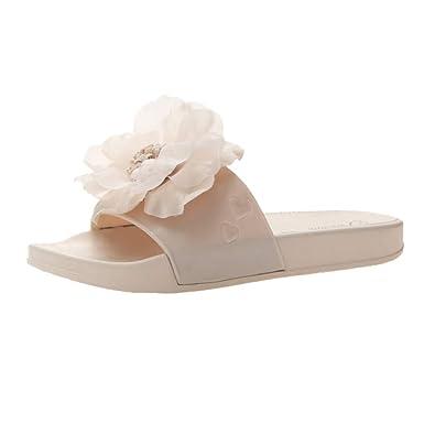 38de184069d Mome 🍓 Flat Shoes🍓 Women s Summer Open Toe Casual Beach Sandals Slip  Slippers (Beige