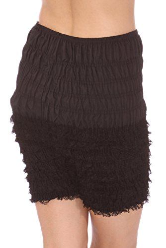 Malco Modes Womens Ruffle Panties Bloomers Dance Bloomers for Sissy Victorian (Black, -