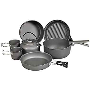 NDuR Cookware Mess Kit with Kettle (9 Piece)