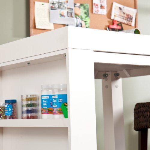 SEI Grazia Bistro/Desk Table, White