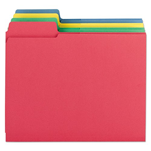 Smead 3-in-1 SuperTab Section Folder, Oversized 1/3-Cut Tab, Letter Size, Assorted Colors, 12 per Pack (11905)