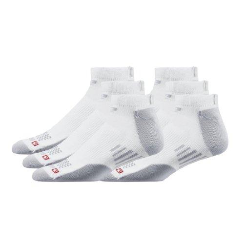 Road Runner Sports Dry-As-A-Bone Medium Low Cut 6pk, Color:White, L