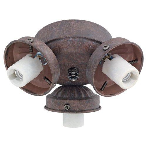 Monte Carlo H3RB 3-Light 2-1/4-Inch Fan Neck Fitter, Roman Bronze