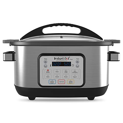Instant Pot Aura 10-in-1 Multicooker Slow Cooker, 10 One-Touch Programs, 6 Qt, Silver (AURA 6Qt)