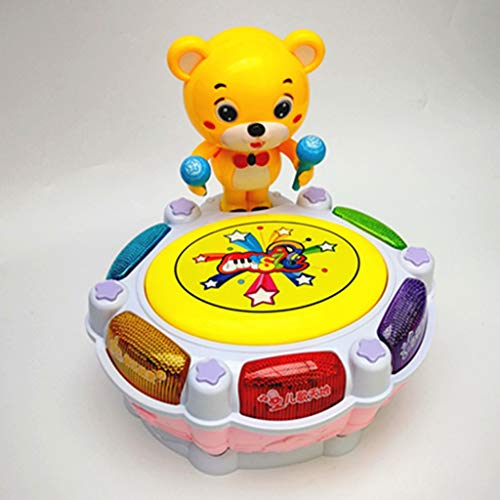 LIPENG-TOY Children's Music Bear Dance Drum Baby Puzzle Early Education Pat Drum Can Be Charged with Microphone Parent-Child Interactive Toys (Color : Pink) by LIPENG-TOY (Image #1)