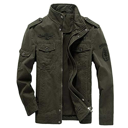 WEEN CHARM Mens Casual Cotton Military Jackets Outdoor Coat Windproof Windbreaker Jacket