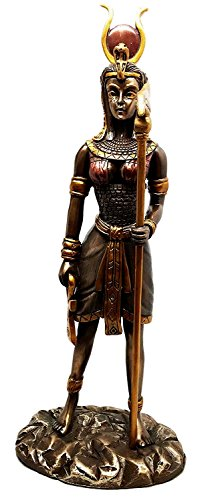 Egyptian Goddess Hathor Bronzed Sculpture Motherhood Music Dance Patroness Statue Mansion of Horus Sculpture