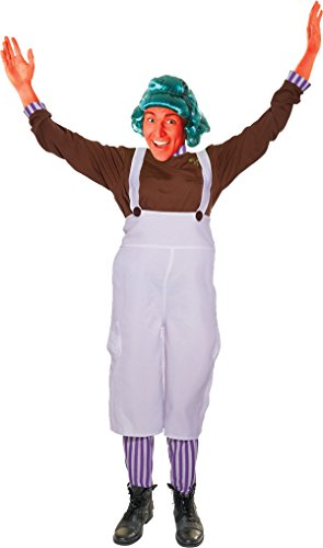 Oompa Loompa Factory Worker Costume (Adult Unisex Oompa Loompa Fancy Dress Party Chocolate Factory Worker Costume)