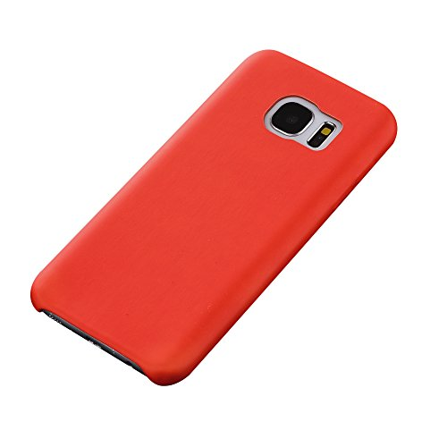Cuitan Protective Case Cover for Samsung S7, Thermal Sensor Color Change Case for Samsung Galaxy S7, Magic PU Back Cover Shell Skin Soft Phone Case for Galaxy S7 - Red to Yellow for Samsung S7
