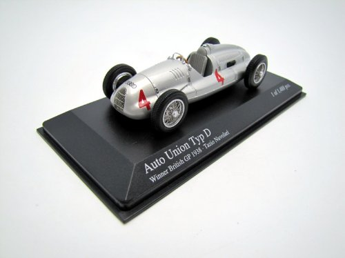 Auto Union Typ D Tazio Nuvolari Winner British GP 1938 Minichamps 1:43