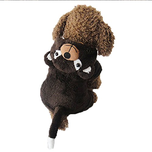[Pineocus Stereoscopic Bear Design Pet Dogs Cosplay Coat Size S] (Bear Dog Costume)