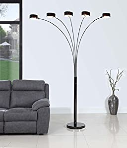Amazoncom artiva usa led207901jb micah plus modern led for Micah 88 arch floor lamp with dimmer function