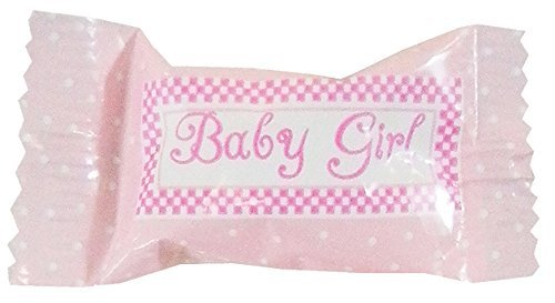Party Sweets It's A Girl Buttermints by Hospitality Mints, Appx 300 mints, 7-Ounce Bags (Pack of 6) -