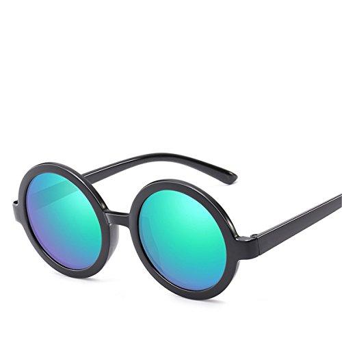 Sol XGLASSMAKER De Redondo Sol De Color D Espejo Transparente Hombre Película Marco Gafas Prince Gafas qvqCp