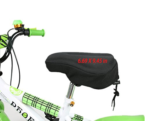 Ride On Gel Saddle (CHILDHOOD Breathable Children Bicycle Seat Cushion Gel Seat Cover Case Black (6.69