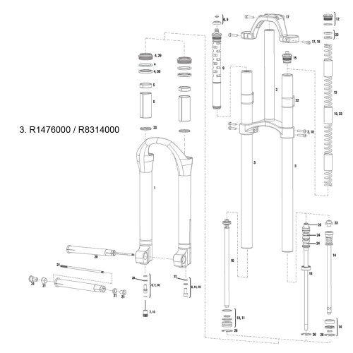 RockShox Service Kit XC32 13-15 SoloAir (Full), 11.4018.014.000 by Rockshox