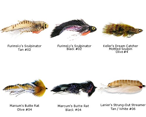 Best of MFC BIG Streamer Assortment - 6 Flies Olive Streamer