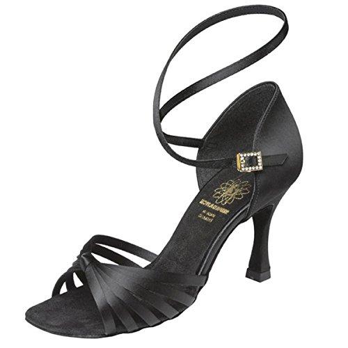 Supadance Zapatillas de Danza de Satén Para Mujer Negro Negro