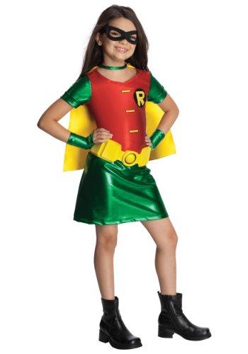 Teen Titans Child's Robin Costume Dress, Medium (Superman Costume For Teens)
