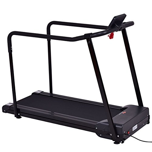 Gymax Walking Jogging Fitness Exercise Treadmill Cardio Electric Running Machine Treadmill For Senior Elders W/ Extra-long Handles by Gymax