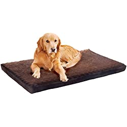 "Extra Large PAW Memory Foam Dog Bed With Removable Cover 46"" x 27"""