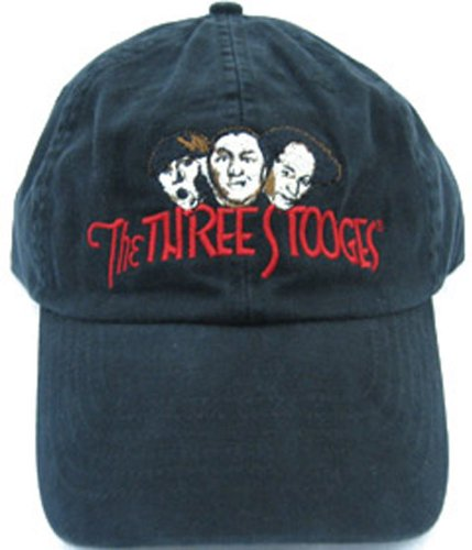 A&E Designs Three Stooges Faces Fine Embroidered Black Hat ()