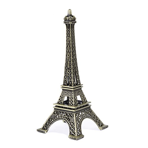 JoyFamily Eiffel Tower Decor,7Inch (18cm) Metal Paris Eiffel Tower Statue Figurine Replica Drawing Room Table Decor Jewelry Stand Holder for Cake Topper,Gifts,Party And Home Decoration - Eiffel Decor Christmas Tower